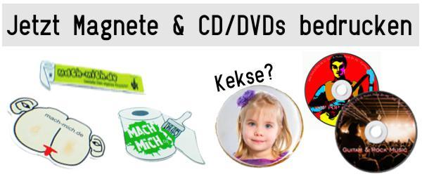CD DVD und Magnete online bedrucken ab 1 Stück